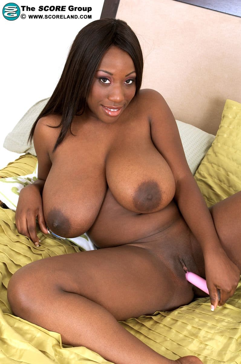 Naked big breast girl black