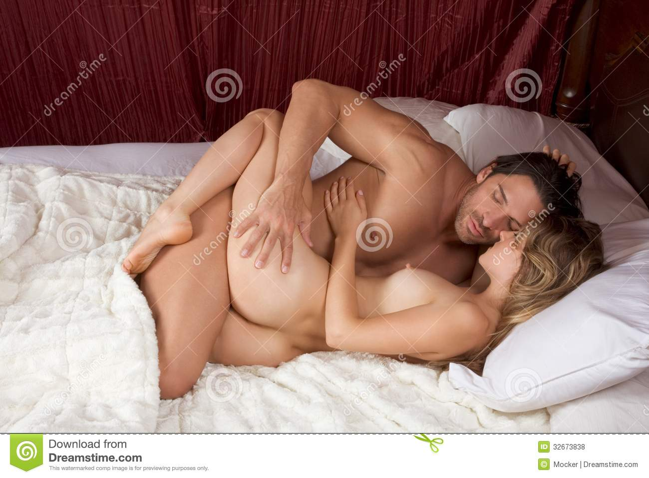 Nude couples having sex in bedroom all