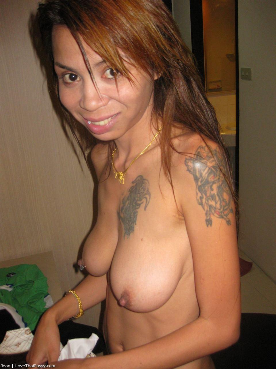 Sexy brunette caressing massage clip durring Black