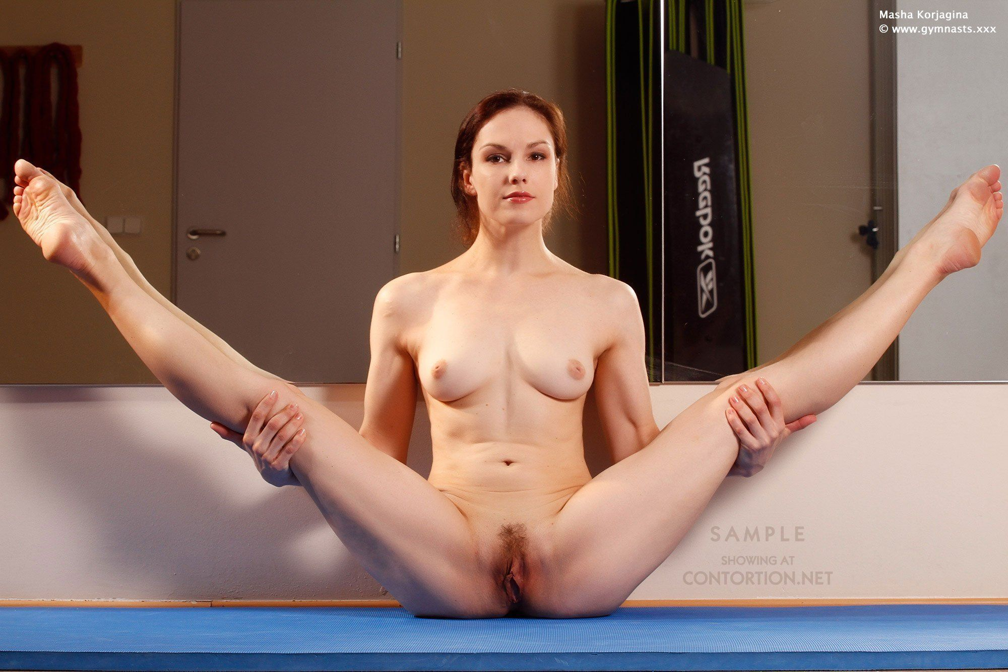 Naked wife doing yoga