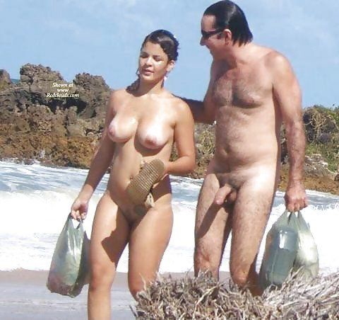 Teen naked couple on beach remarkable