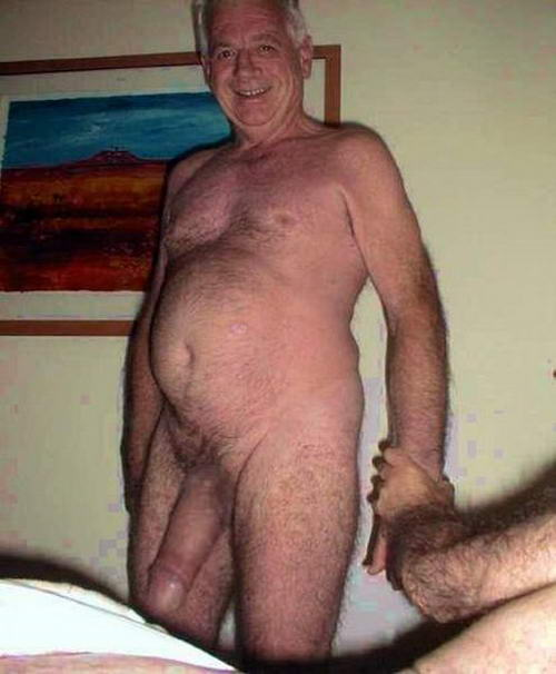 Rather good old man naked sex