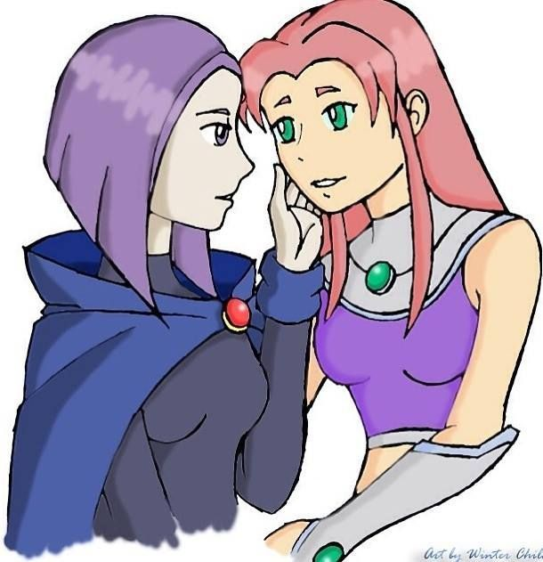 Bronze O. reccomend Raven And Starfire Kissing