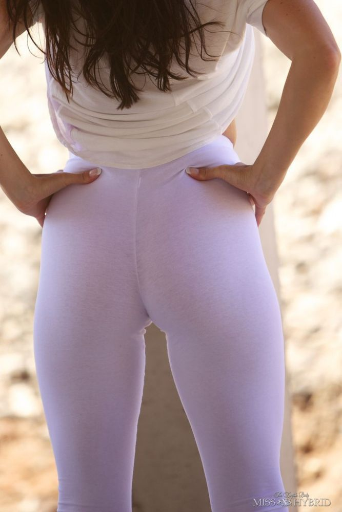 Hot milf in white pants
