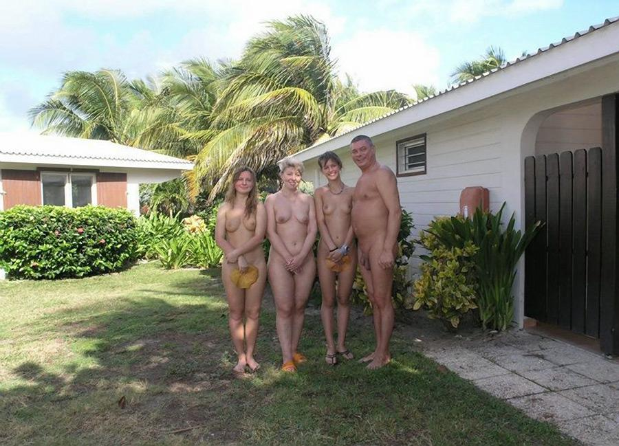 Pity, that Nudist family time