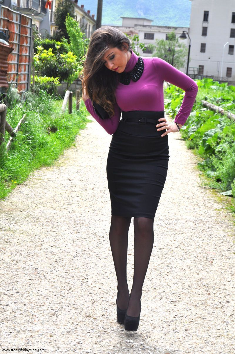 best of Skirt models tight pantyhose Young